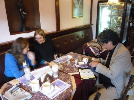 Meeting prep in Lima, Peru